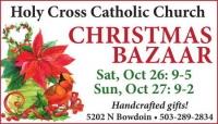 Holy Cross Catholic Church Christmas Bazaar