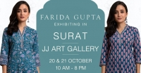 Farida Gupta Surat Exhibition