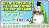 David Douglas HS PTSA 23rd Annual Holiday Bazaar