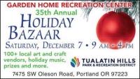 Garden Home Recreation Center 35th Annual Holiday Bazaar