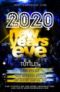 Tuttles Bar and Grill New York City New Year's Eve 2020 Celebration