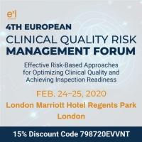 4th European Clinical Quality Risk Management Forum