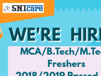 we are recruiting M.Tech, B.Tech , Msc. and MCA 2018/2019 Passed out candidates to work on Java/ Dot Net / Cloud Computing / Networking  Technologies.  We are hiring 30 candidates. If interested please share your Resume to hr@snicare.com