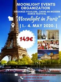 "International folklore festival ""Moonlight in Paris"""
