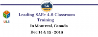 Leading SAFe 4.6 Certification Training in Montreal, Canada