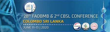Federation of Asian Biochemists and CBSL Congress, June 11-13, 2020 Colombo, Colombo, Sri Lanka
