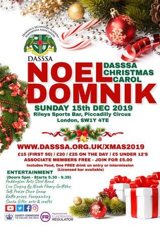 DASSSA Christmas Carol (Noel Domnik) 15th December 2019, Haymarket, London, Greater London, England, United Kingdom