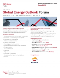 12 Annual Global Energy Outlook Forum  - 2019