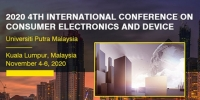 2020 4th International Conference on Consumer Electronics and Device (ICCED 2020)