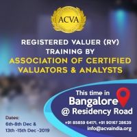 Registered Valuer (RV) training conducted by the Association of Certified Valuators & Analysts
