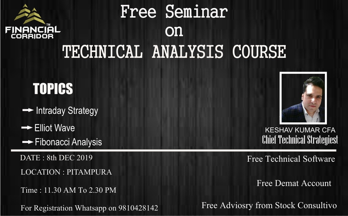 Free Seminar on Technical Analysis course, North West Delhi, Delhi, India