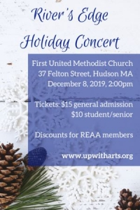 River's Edge Holiday Concert, 12/8 2pm, FUMC Hudson MA