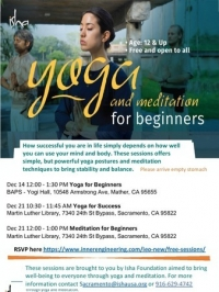 Yoga for Beginners (90 min session) in Sacramento - Free and open to all