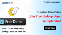 Pre-Register For Free interactive Hadoop Demo Session By Experts On 1st Dec 2019,at 10 AM By Orien IT, Hyderabad