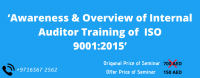 Awareness & Overview of Internal Auditor Training of ISO 9001:2015