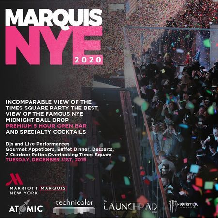 Marriott Marquis New Year's Eve 2020 VIP Party, New York, United States