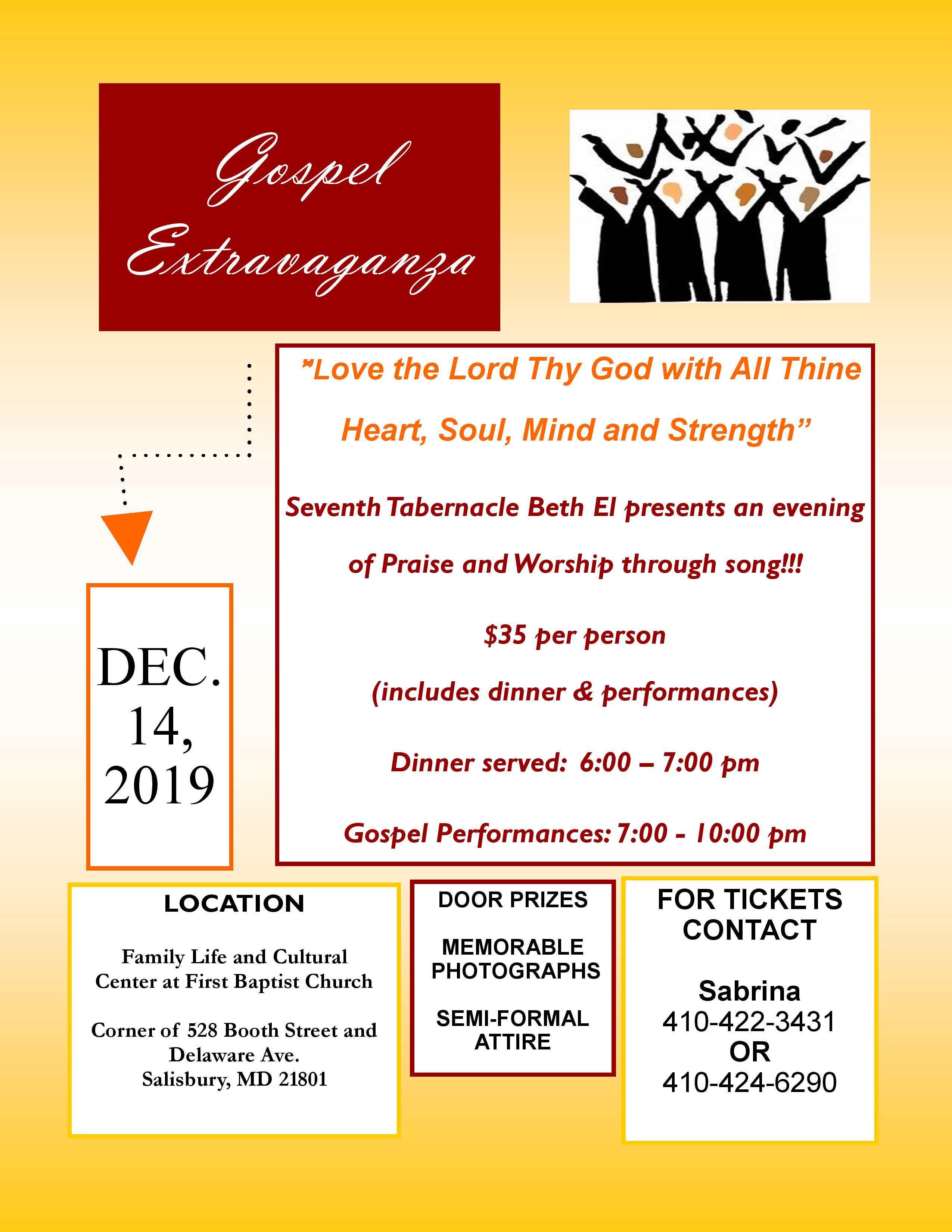 Gospel Extravaganza, Wicomico, Maryland, United States