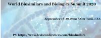 World Biosimilars and Biologics Summit 2020