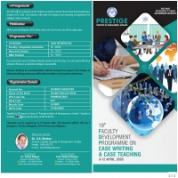 19th Faculty Development Programme on  CASE WRITING AND CASE TEACHING