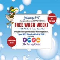 Flying Ace Express Hamilton Grand Opening Free Wash Week: 6560 Winford Ave.