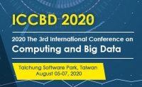 2020 the 3rd International Conference on Computing and Big Data (ICCBD 2020)