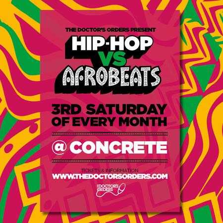 Hip-Hop vs Afrobeats @ Concrete Shoreditch, Sat 21st March, London, United Kingdom