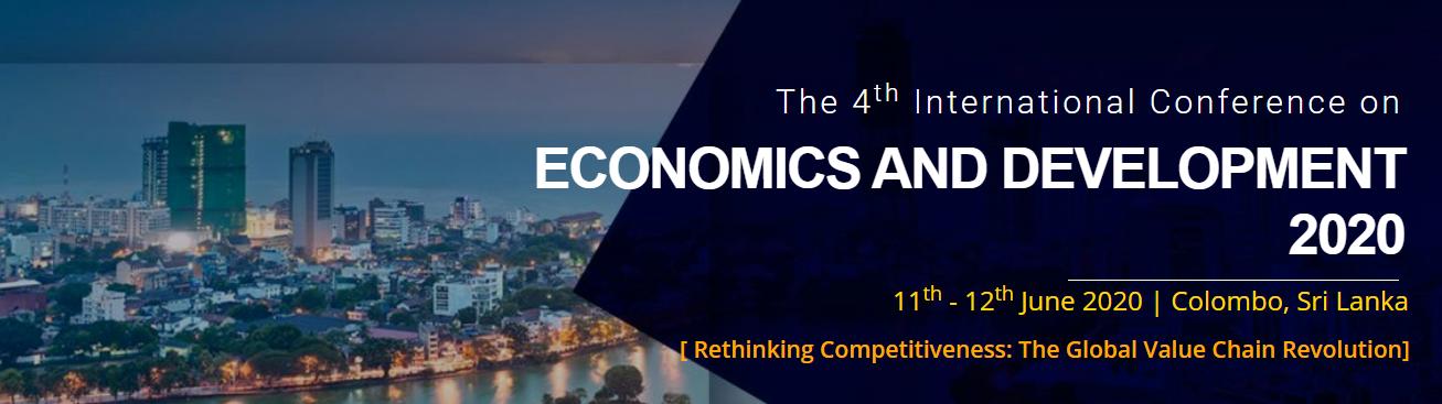 4th International Conference on Economics and Development 2020, Colombo/Colombo/Sri Lanka, Colombo, Sri Lanka