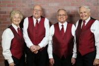 Singing Valentine presented by 4 singers to your loved one w/ rose and card