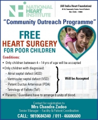 Free Cardiac Surgery For Poor Children | National Heart Institute
