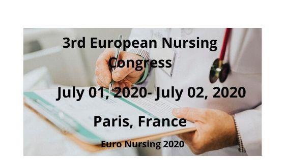 3rd European Nursing Congress, Paris, France