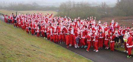 Draycote Water Santa Dash 10K and 5 Mile - Sunday 13 December 2020, Rugby, Warwickshire, United Kingdom