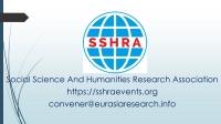 7th Bangkok – International Conference on Social Science & Humanities (ICSSH), 20-21 December 2020