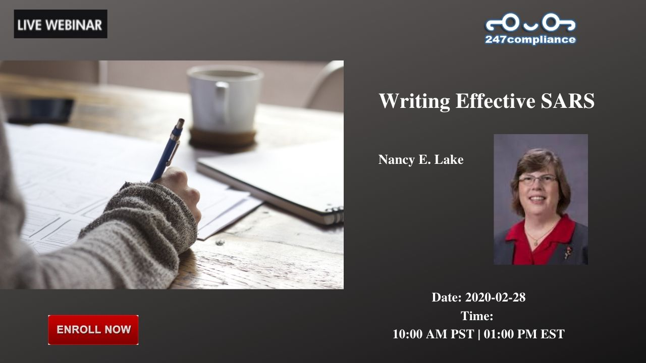 Writing Effective SARS, 2035 Sunset Lake, RoadSuite B-2, Newark,Delaware,United States