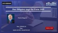 Due Diligence steps for Form 1099