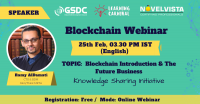 FREE Webinar on Blockchain Introduction & The Future Business by NovelVista