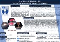 NATIONAL WORKSHOP ON RAPID MANUFACTURING PROCESSES (RAMP 2020)