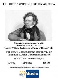 Schubert Mass in G / Vaughan Williams Fantasia on a Theme of Thomas Tallis