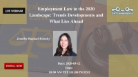 Employment Law in the 2020 Landscape: Trends Developments and What Lies Ahead