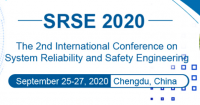 The 2nd International Conference on System Reliability and Safety Engineering (SRSE 2020)