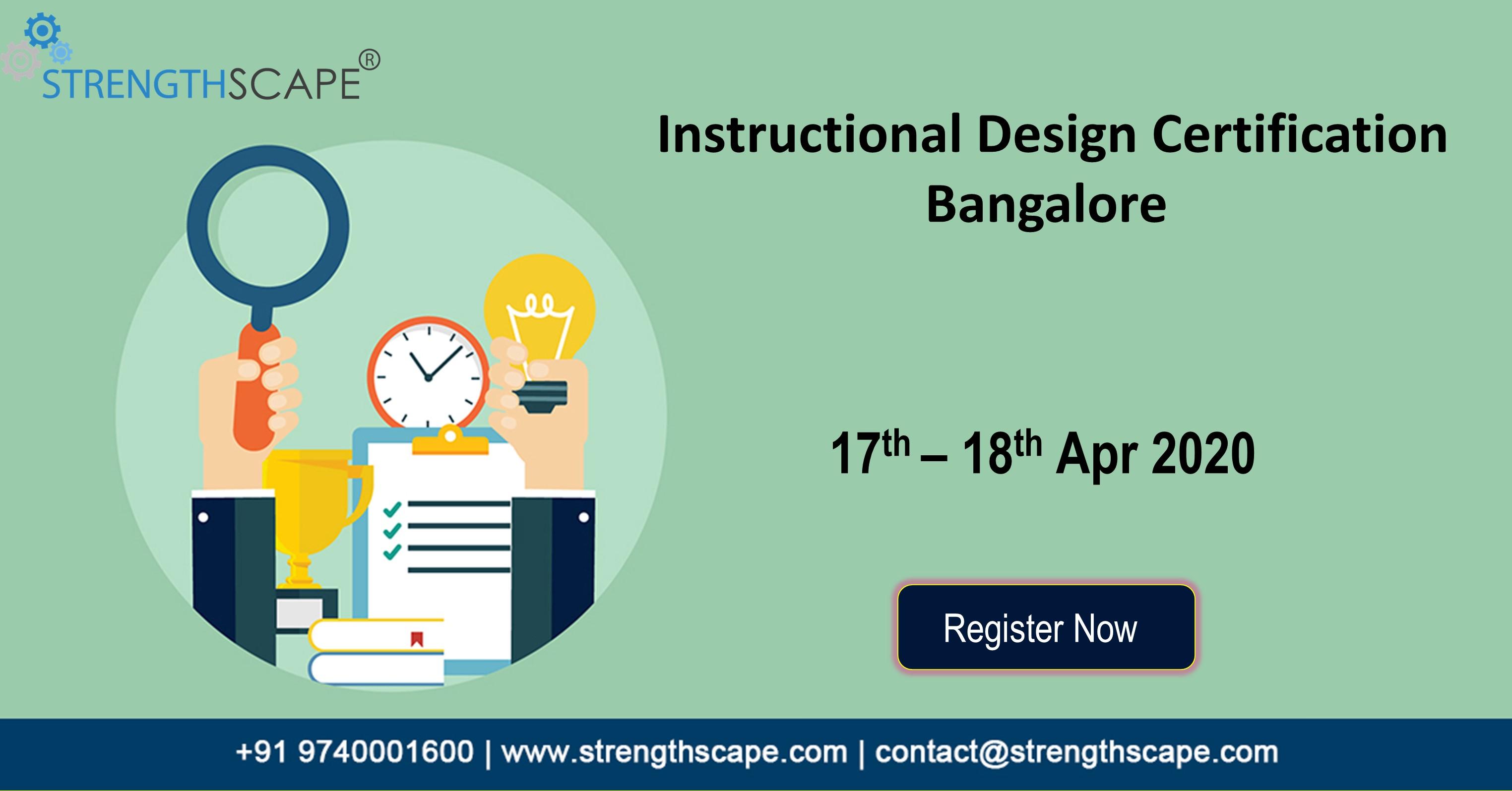 Instructional Design Id Certification In Bangalore Workshop