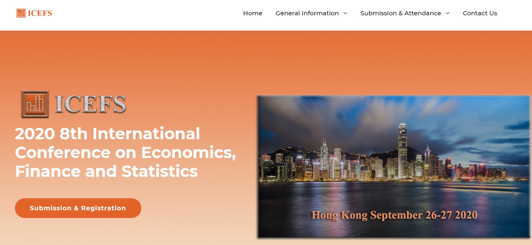 2020 8th International Conference on Economics, Finance and Statistics, Hong Kong, Hong Kong