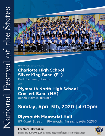 FREE PERFORMANCE - Charlotte High School Silver King Band (FL), Plymouth, Massachusetts, United States