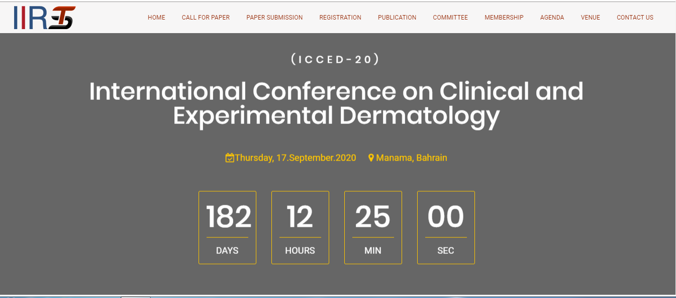 International Conference on Clinical and Experimental Dermatology, Manama, Bahrain