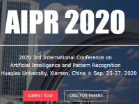 2020 3rd International Conference on Artificial Intelligence and Pattern Recognition (AIPR 2020)