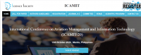 International Conference on Aviation Management and Information Technology (ICAMIT-20)