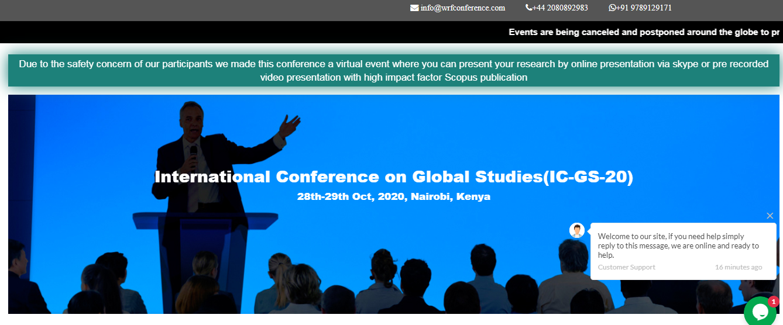 International Conference on Global Studies(IC-GS-20), Nairobi, Kenya