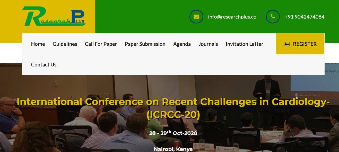 International Conference on Recent Challenges in Cardiology-(ICRCC-20), Nairobi, Kenya