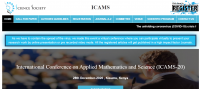 International Conference on Applied Mathematics and Science (ICAMS-20)