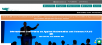 International Conference on Applied Mathematics and Science(ICAMS-20)