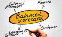 Use of Balanced score card approach to boost organization performance